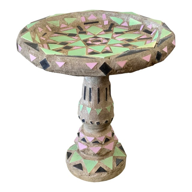 Vintage Malibu Tile Bird Bath For Sale