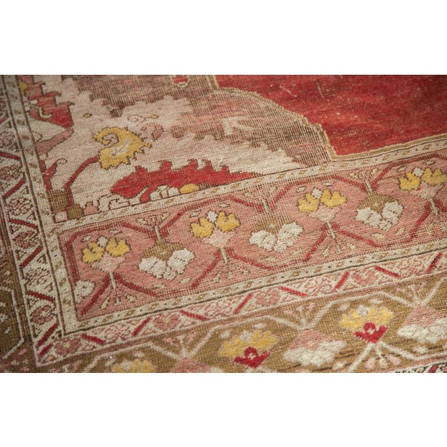 "Vintage Distressed Oushak Rug - 4'8"" X 6'10"" - Image 4 of 8"