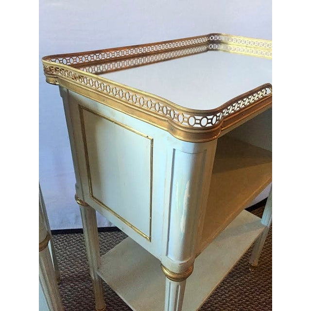 Paint Decorated End Tables - Pair - Image 6 of 8