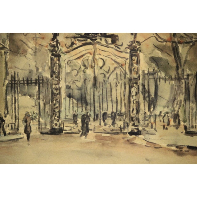 Paris II Watercolor Painting For Sale - Image 5 of 7