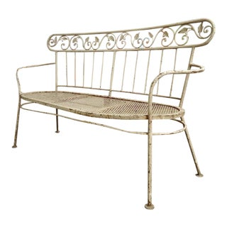 Iron Mid-Century Lawn Benches - Pair For Sale