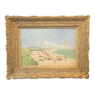 Niek Van Der Plas Nantucket Beach Framed Painting For Sale