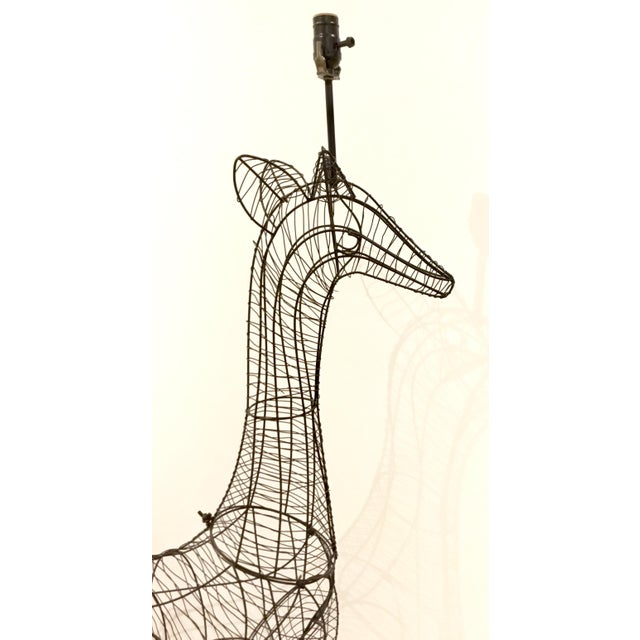 Modern Large Modern Giraffe Wire Sculptural Floor Lamp For Sale - Image 3 of 6