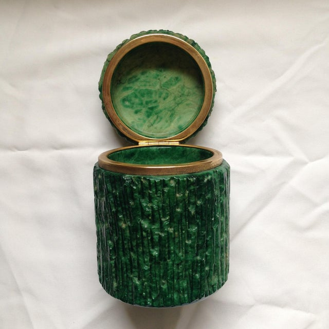 Italian Green Marble Box For Sale - Image 4 of 9
