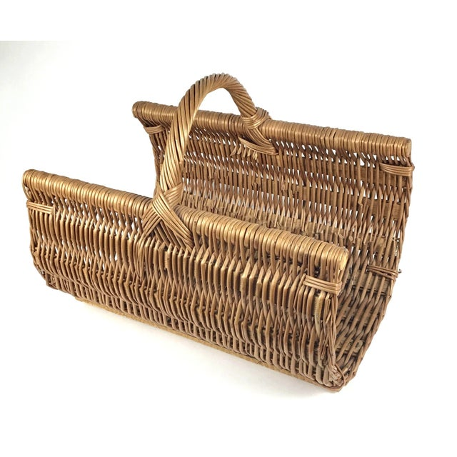Large and strong. In near perfect condition. Use this basket for towels, magazines or firewood. Heavy duty. They don't...