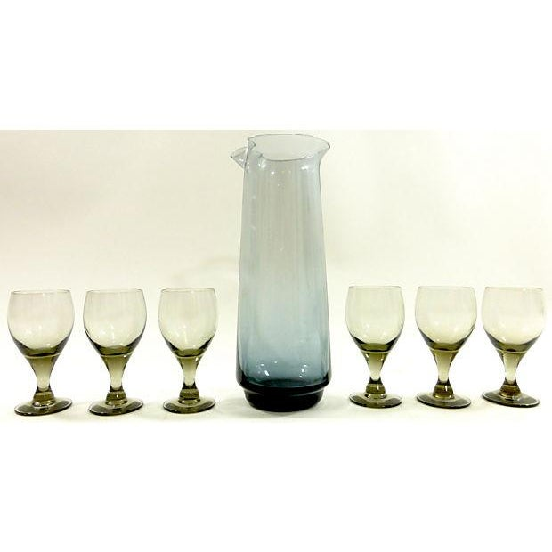 Mid-Century Cordial Carafe and Glasses - Image 2 of 8
