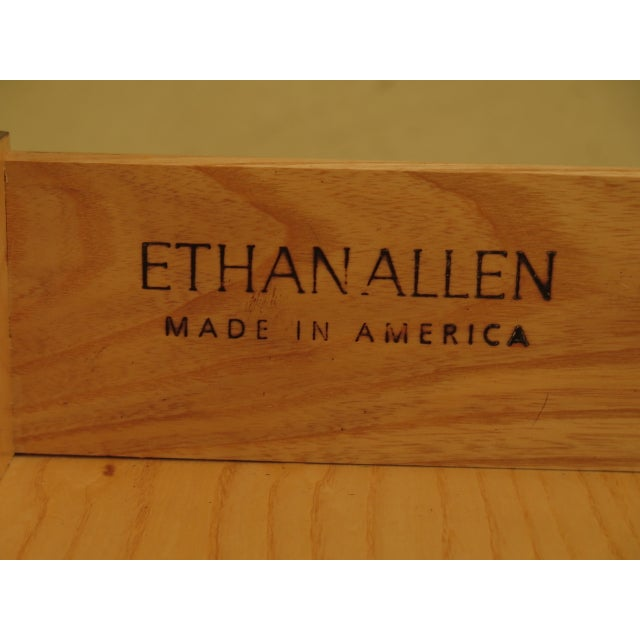 Vintage Ethan Allen 2 Drawer Mahogany Side Table For Sale - Image 10 of 12