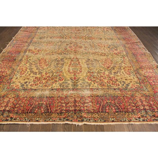 "Apadana Antique Persian Kerman Rug - 7' x 9'11"" For Sale - Image 4 of 9"