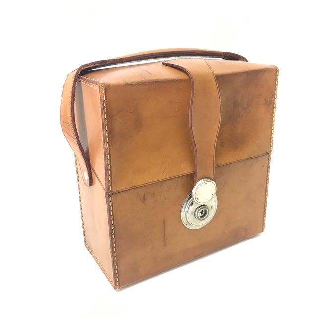 German Flask & Shaker Set Leather Case - Image 5 of 7