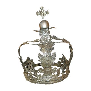 19th Century French Silver Bed Corona For Sale
