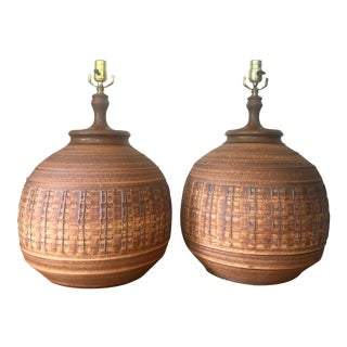 Bob Kinzie for Affiliated Craftsman Pottery Lamps - A Pair