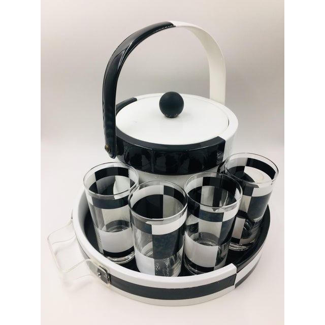 1960s Mid Century Modern Georges Briard Bar Set With Matching Tray & Ice Bucket - Set of 7 For Sale - Image 9 of 9