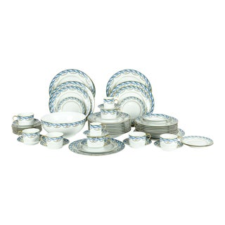 Limoges Made for Tiffany Dinner Set - Set of 42 For Sale