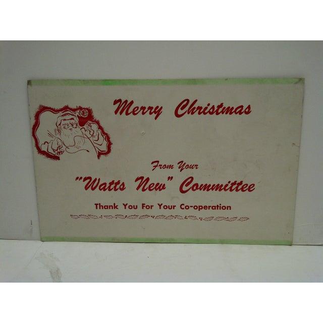 C 1950 Watts New Committe Merry Christmas Advertising Sign Chairish