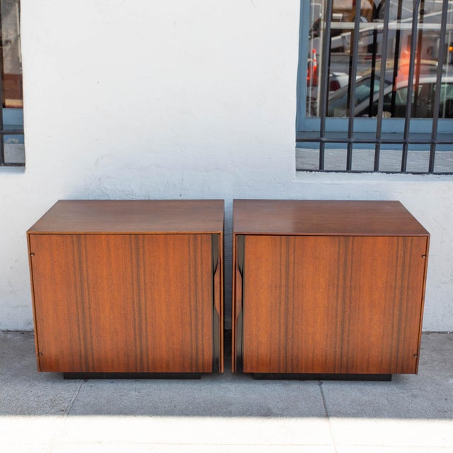 Pair of walnut John Kapel for Glenn of California nightstands in very good condition. Great addition for bedroom or living...