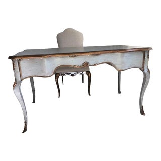 French Provincial Hooker Furniture Writing Desk With Chair - 2 Pieces For Sale