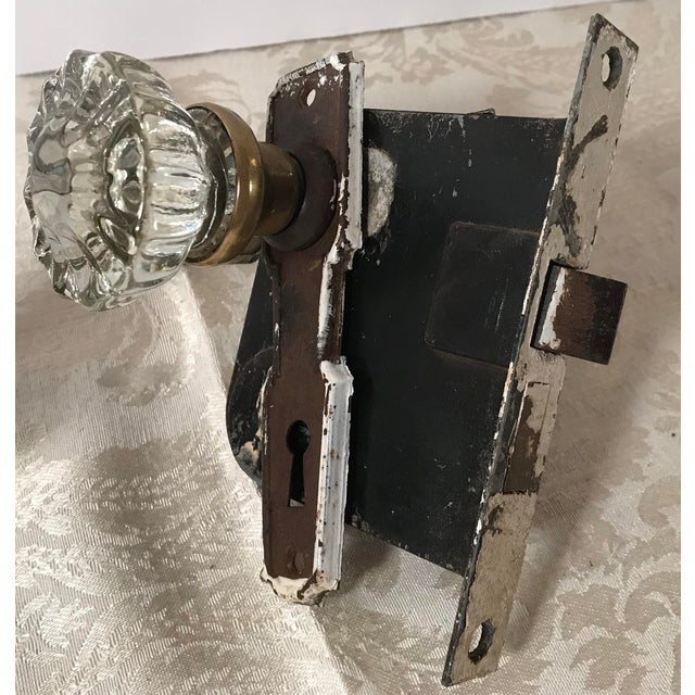 Glass Doorknobs With Hardware and Locks - a Pair For Sale In Dallas - Image 6 of 10