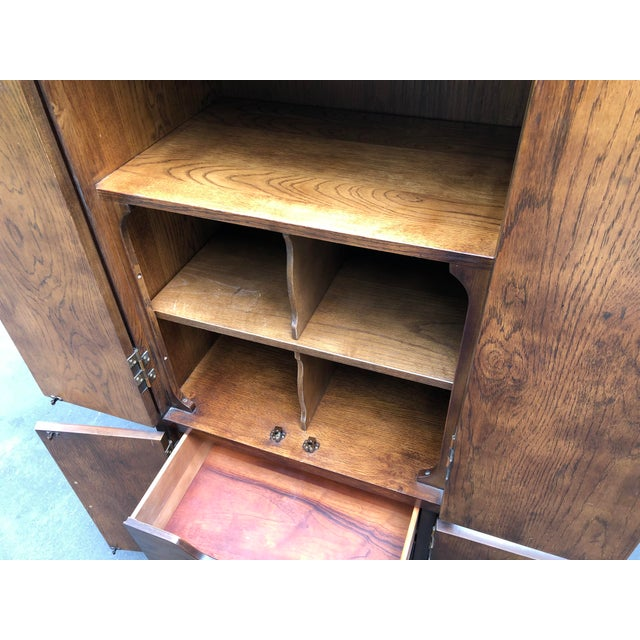 Henredon Henredon Scene One Campaign Style Armoire Cabinets 1980s - a Pair For Sale - Image 4 of 12