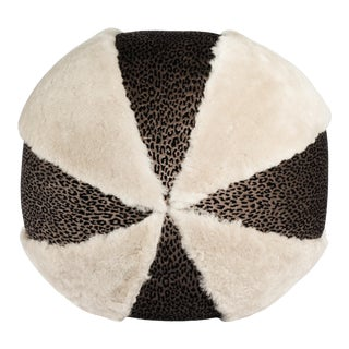 ReWeave L.A. Brown Round Pillow For Sale