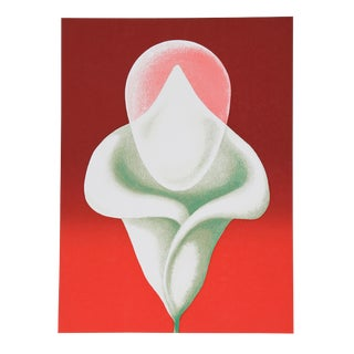 Clarence Holbrook Carter, Abstract Tulip, Serigraph For Sale
