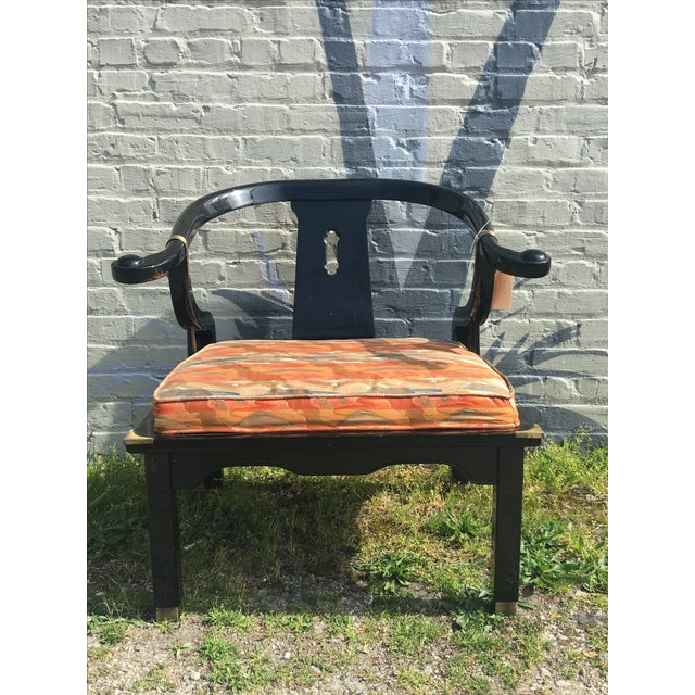 Vintage Chinoiserie James Monte Style Accent Chair - Image 2 of 4