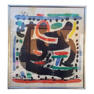 Joan Miro Colorful Abstract Lithograph For Sale