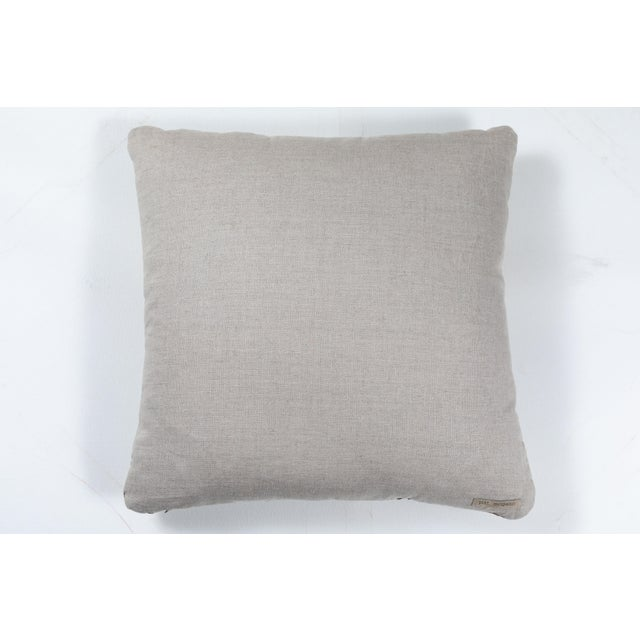 2010s Indian Handwoven Pillow Bauhaus Green For Sale - Image 5 of 6