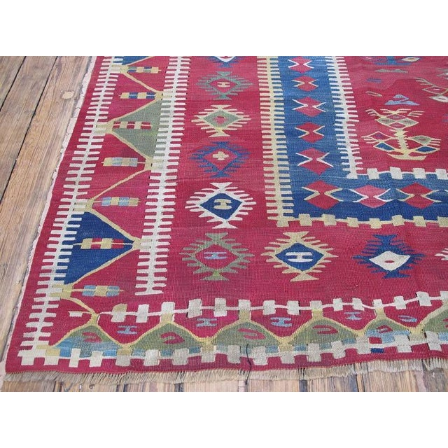Late 19th Century Antique Sharkoy Kilim For Sale - Image 5 of 9