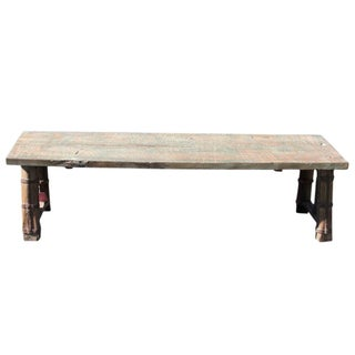 Reconstructed Oxcart Coffee Table For Sale