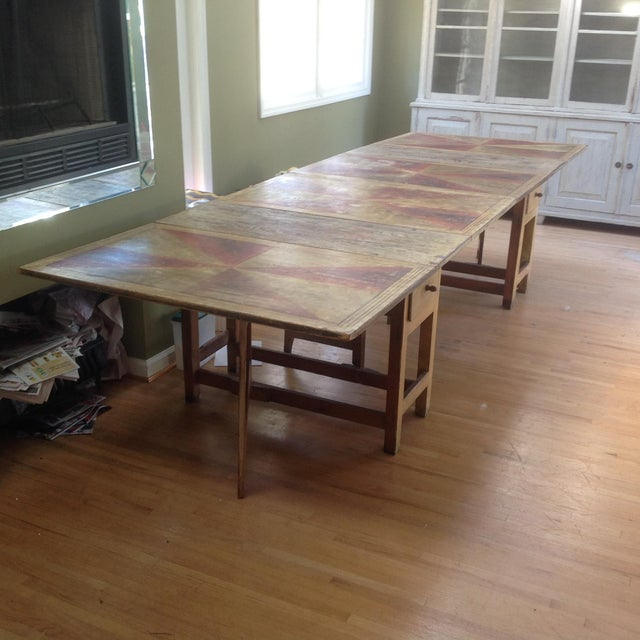 Gold & Amber Gustavian Dining Table - Image 2 of 9