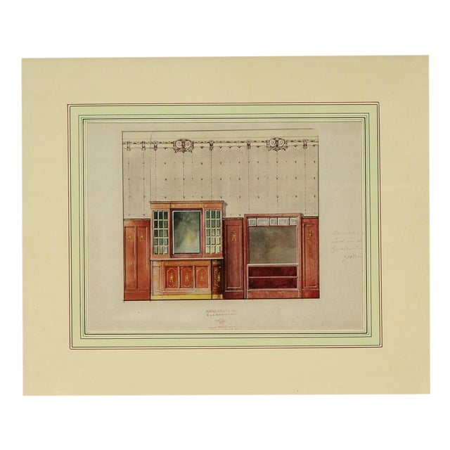 Interior Cabinet Rendering Painting For Sale