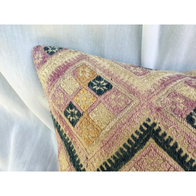 Antique Chinese Embroidered Wedding Quilt Pillow - Image 3 of 7