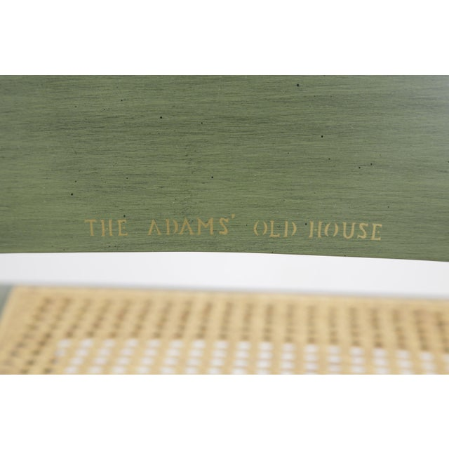 """Green Hitchcock """"The Adam's Old House"""" Green Painted Side Chair For Sale - Image 8 of 13"""