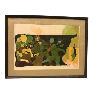 1969 Modern Art Lithograph