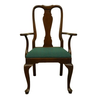 Kling Colonial Solid Cherry Traditional Queen Anne Style Dining Arm Chair For Sale