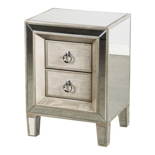 Contemporary J Cassidy Wood & Glass Nightstand For Sale