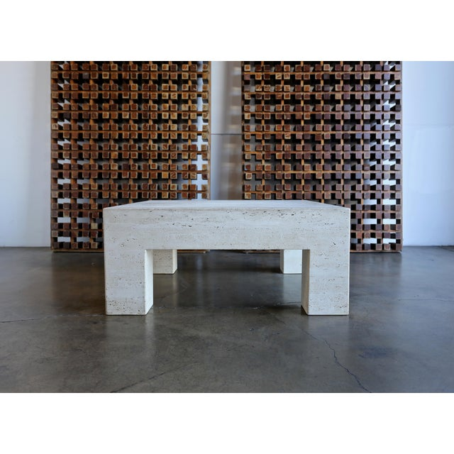 Travertine Coffee Table For Sale - Image 9 of 9