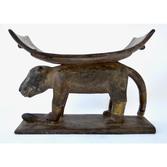 African Ashanti Leopard Stool For Sale - Image 10 of 10