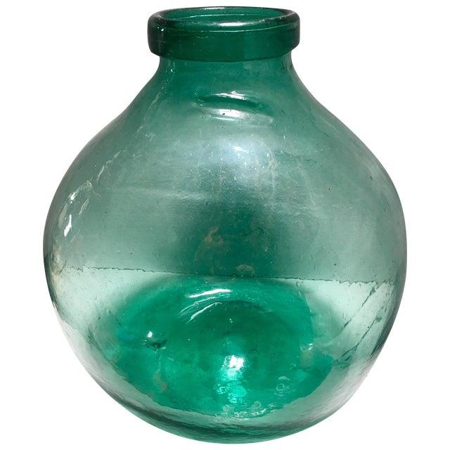 Antique Spanish Glass Demijohn - Image 1 of 5