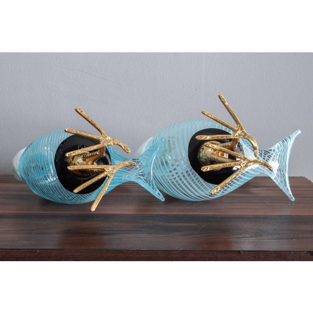 Murano Glass Toucan Birds on Gilt Legs in the Style of Licio Zanetti - Pair For Sale - Image 10 of 13