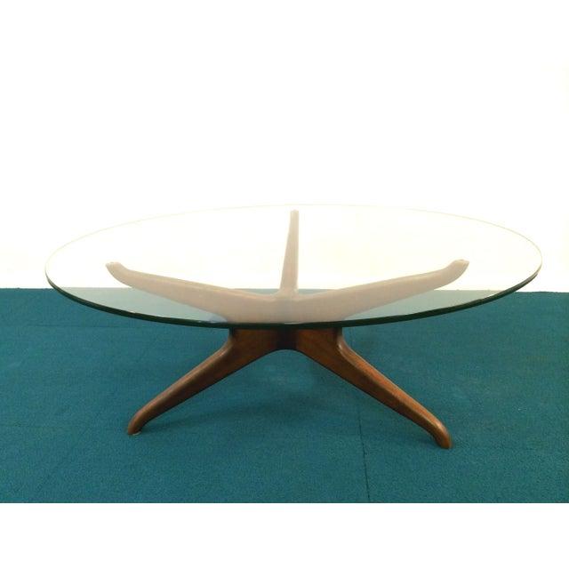 Vladimir Kagan Biomorphic Walnut Coffee Table - Image 8 of 8