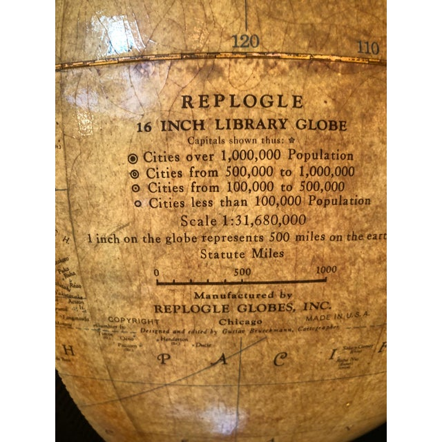 Wood Standing Glass and Wood Globe, Mid-20th Century For Sale - Image 7 of 8