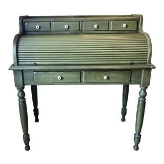 Early American Ethan Allen Rolltop Desk For Sale