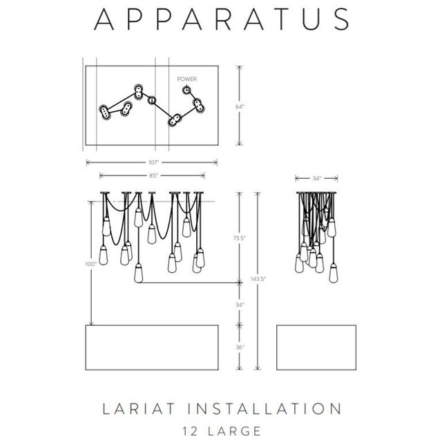Apparatus Apparatus Lariat Installation 12 Large For Sale - Image 4 of 7