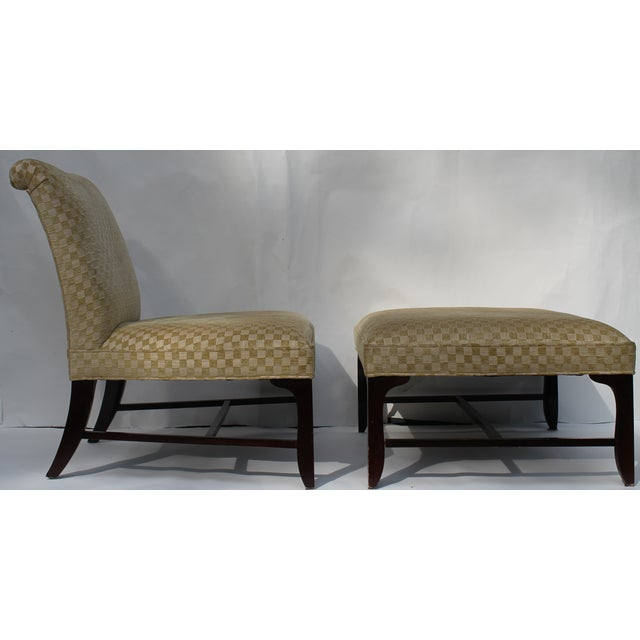 Vintage Slipper Chair & Ottoman by Barbara Barry - Image 2 of 7
