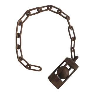 Mid 20th Century 1950s Folk Art Hand-Made Wooden Chain Link Sculpture For Sale