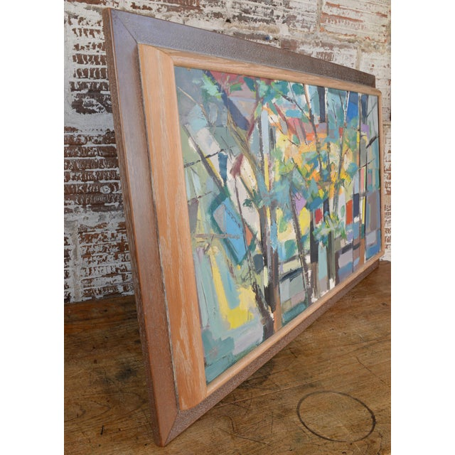 Mid 20th Century Abstract Expressionist Painting by Armando Del Cimmuto For Sale - Image 10 of 13