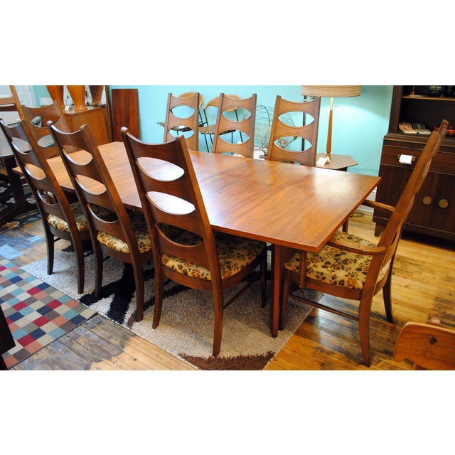 Kent Coffey Mid-Century Perspecta Dining Chairs - Set of 8 - Image 11 of 11