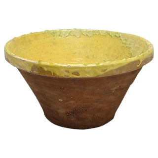 Large Antique French Terra Cotta Bowl