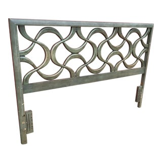 Mid Century Stanley Full Size Sculptural Headboard For Sale